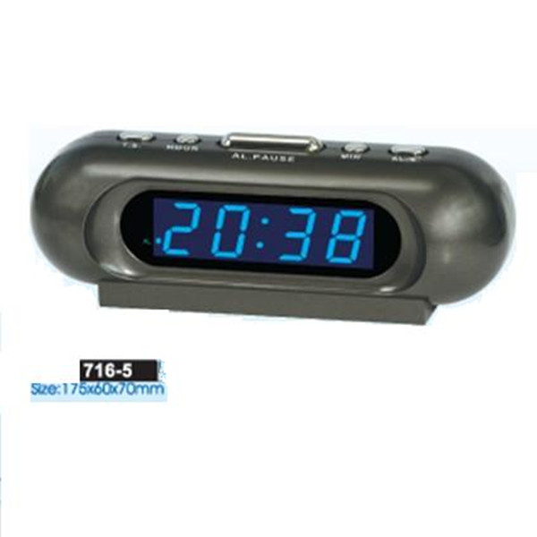 Glowing blue color change LED digital clock display