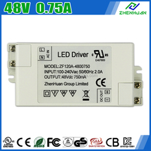 China Supplier 36W Dali LED Driver 48V 0.75A LED Transformer 100-240V