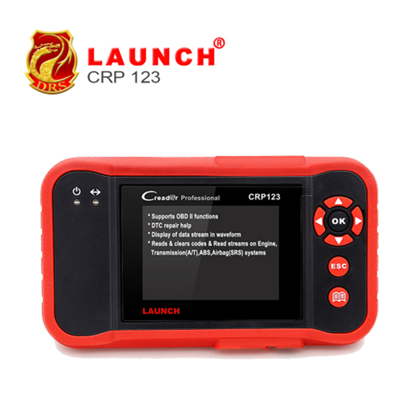 Original Launch Tech CRP123 ABS, SRS, Transmission And Engine Code Scanner US Version Launch Profession Creader CRP123