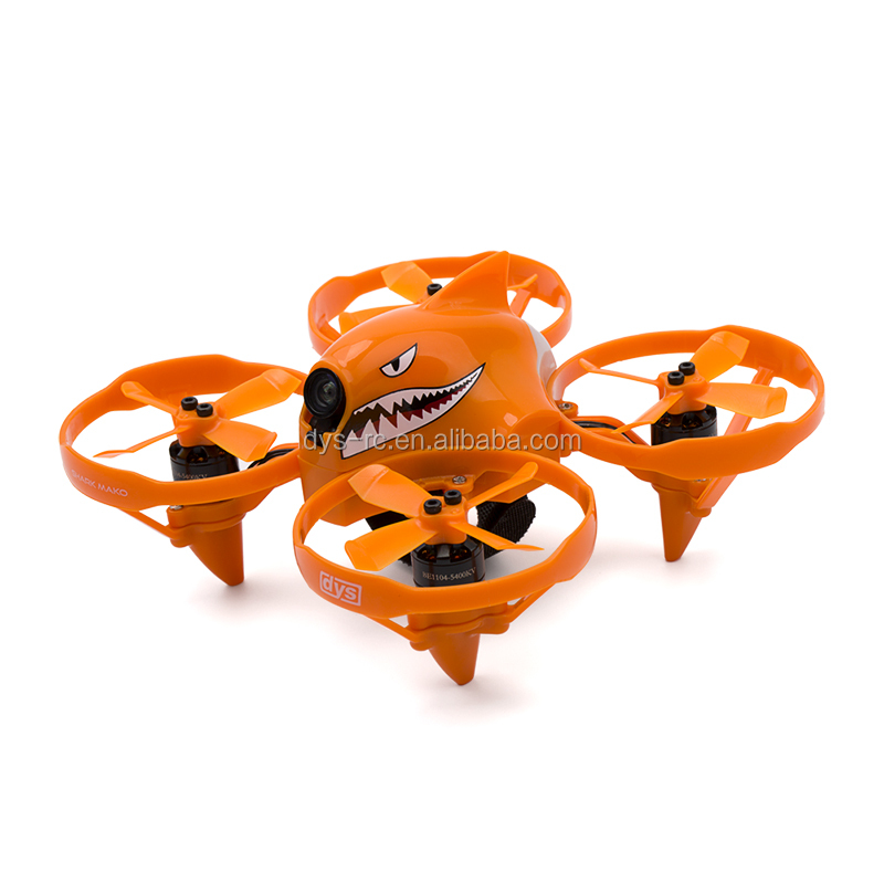 DYS Micro FPV Brushless Drone Shark-Mako with F4/F18A/BE1104 Support 3S great power and shiny LED flight