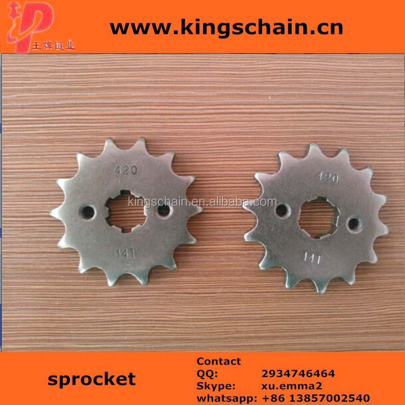Good quality SAE1045 motorcycle crown and pinion motorcycle accessories