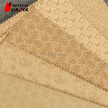 Eco-Friendly 100% pu embossed synthetic leather material