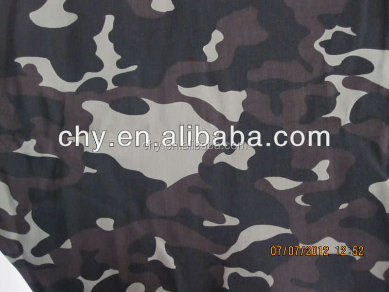 CVC camouflage printed fabric for army uniform