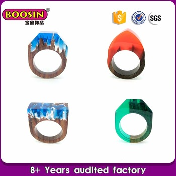 Guangzhou factory natural wood ring jewelry smart rings