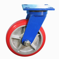 "retractable casters,5""/6""/8"" extra heavy duty swivel wheels/200mm polyurethane caster/China caster manufacturer"