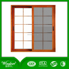 China Factory Manufacturer Cheap Price UPVC Sliding Glass Window with Grill