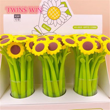 2019 items of fancy stationery sunflower gel pens with custom logo 1423
