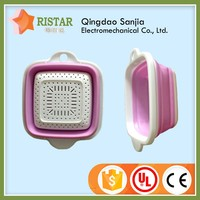 Injection modling small cheap price list square plastic folding basket for noodle