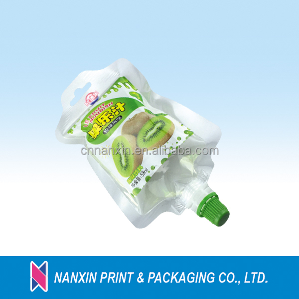 Baby food spout pouch for liquid packaging spout packaging