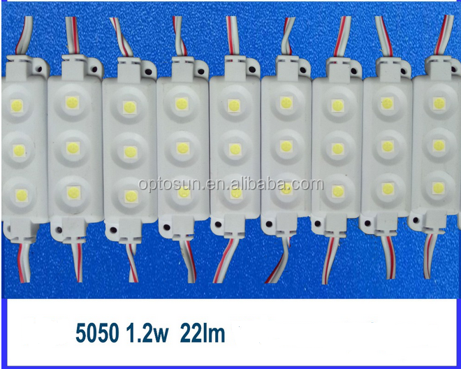 White color SMD 5050 injection led signage light module