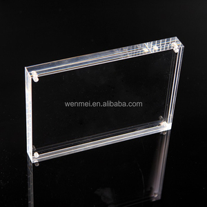 2018 Hot Sales Clear Acrylic Magnetic Photo or Placard Holder Frame