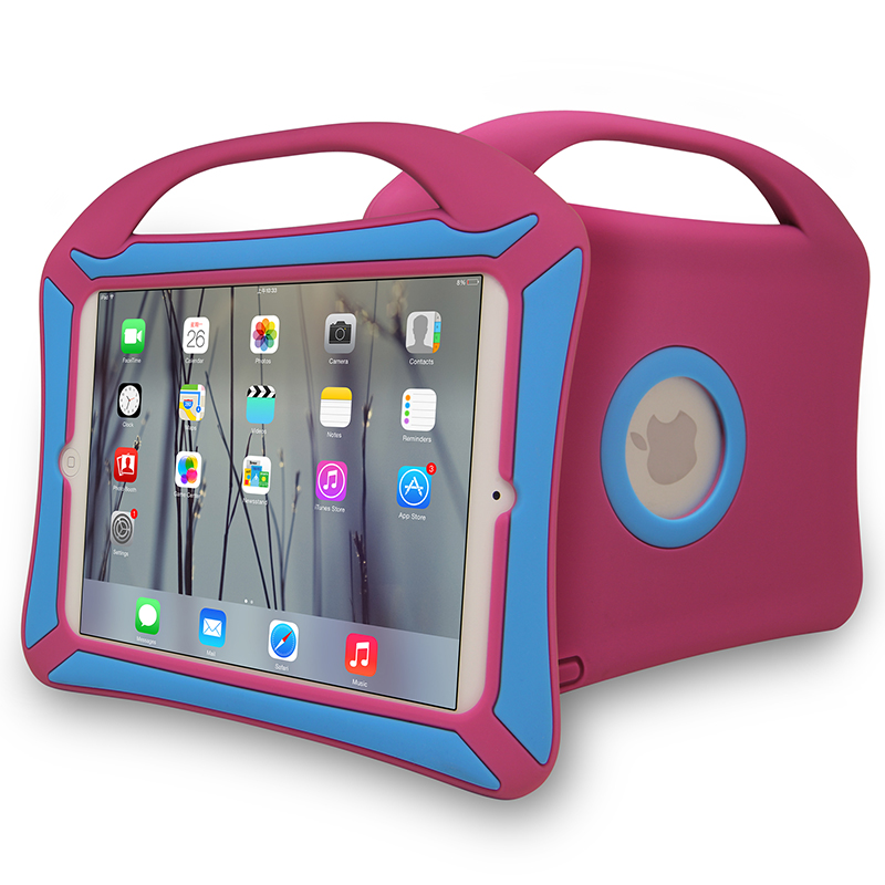 Hot ! Dual Colors Soft Silicone Kids Protective Case For iPad Mini 2 3 4