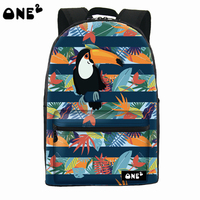 One2 design bird pattern cheap outdoor adventure backpack for kids