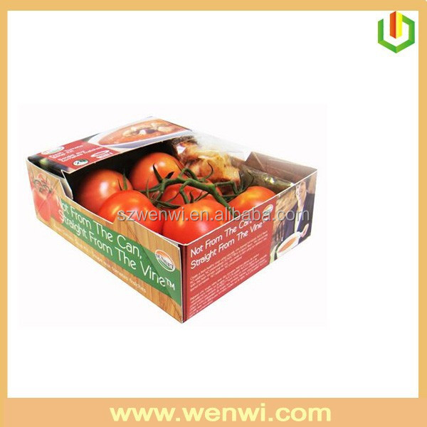 Low price wholesale high quality cardboard tomato packing boxes