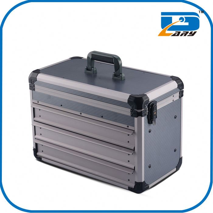Professional silver aluminum briefcase tool box