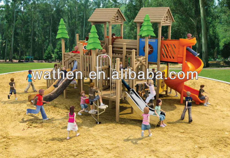 Hot selling wooden playground equipment plans