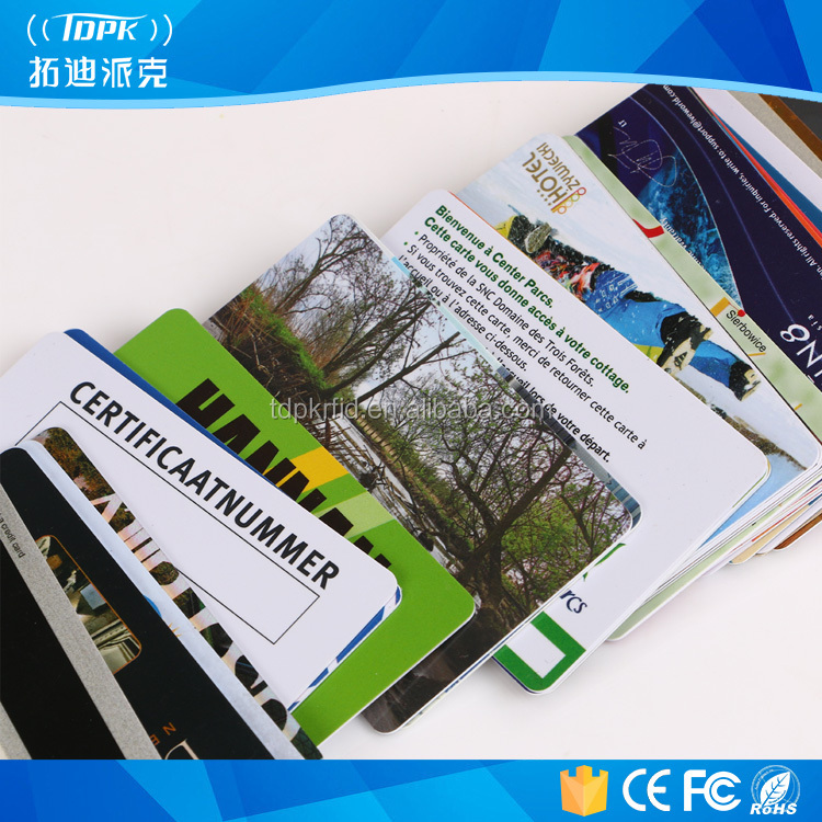 Mini t5577 uhf rfid pvc cards of different shaped