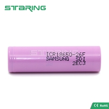 wholesale 100% original Samsung 18650 26F vaping battery 2600mAh high capacity cells