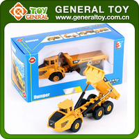 1:87 Free Diecast Car Models Plastic Toy Mini Dump Truck
