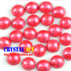 Bright red color fauxed iron-on artificial pearls, ABS flat pearls , half round pearls hor clothes