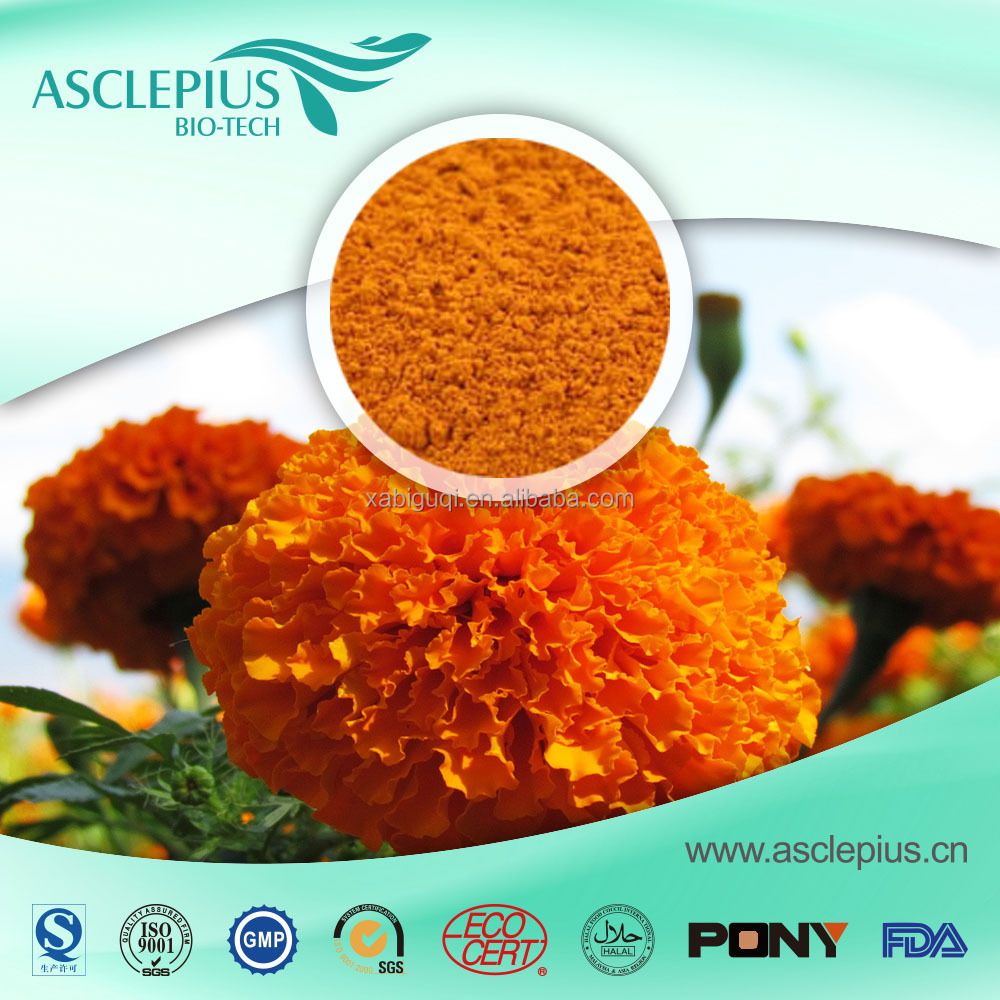 Fresh cut marigold flowers seed extract zeaxanthin lutein good for eye