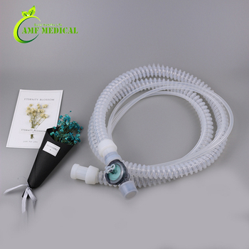 Reusable Silicone Ventilator Breathing Circuit With water trap