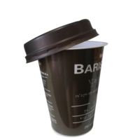 Disposable customied starbucks cup for coffee flexo/ offset printed