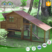 Large Chicken Coop Outdoor Wooden Chicken House With Run And Rest Box