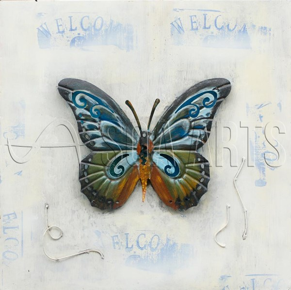 Simple Butterfly Handmade Painting on Metal