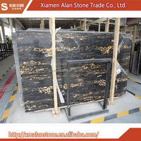 Gold supplier china Portoro Golden Brown Marble
