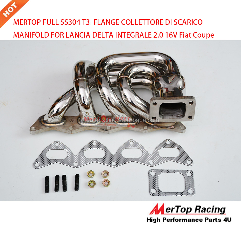 Mertop Race Full SS304 T3 42mm OD Fia* Coupe & Lancia Delta 2, <strong>0</strong> <strong>l</strong> 16V Turbo Exhaust manifold