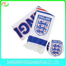 jacquard pattern acrylic promotion printing logo soccer fan sport basketball football scarf