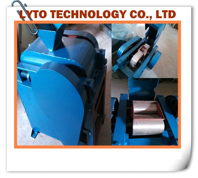 Iron ore mineral lab widely used double roll crusher with 600kg/h capacity