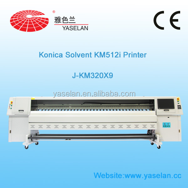 Large format Solvent Printing machine with Konica 512i Printer