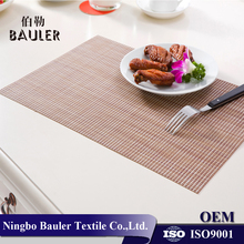 Hot sale fashion PVC woven fabric table plate mat