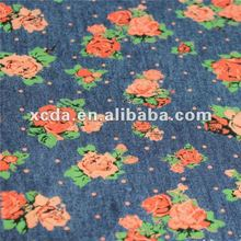 2012 new fashion print denim jeans fabric