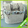 handmade wicker gift basket with lind and handle for gift decoration storage