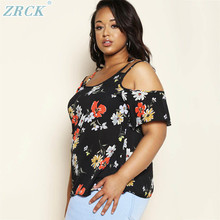 Australian awesome black spaghetti floral short sleeve blouses big plus size clothing