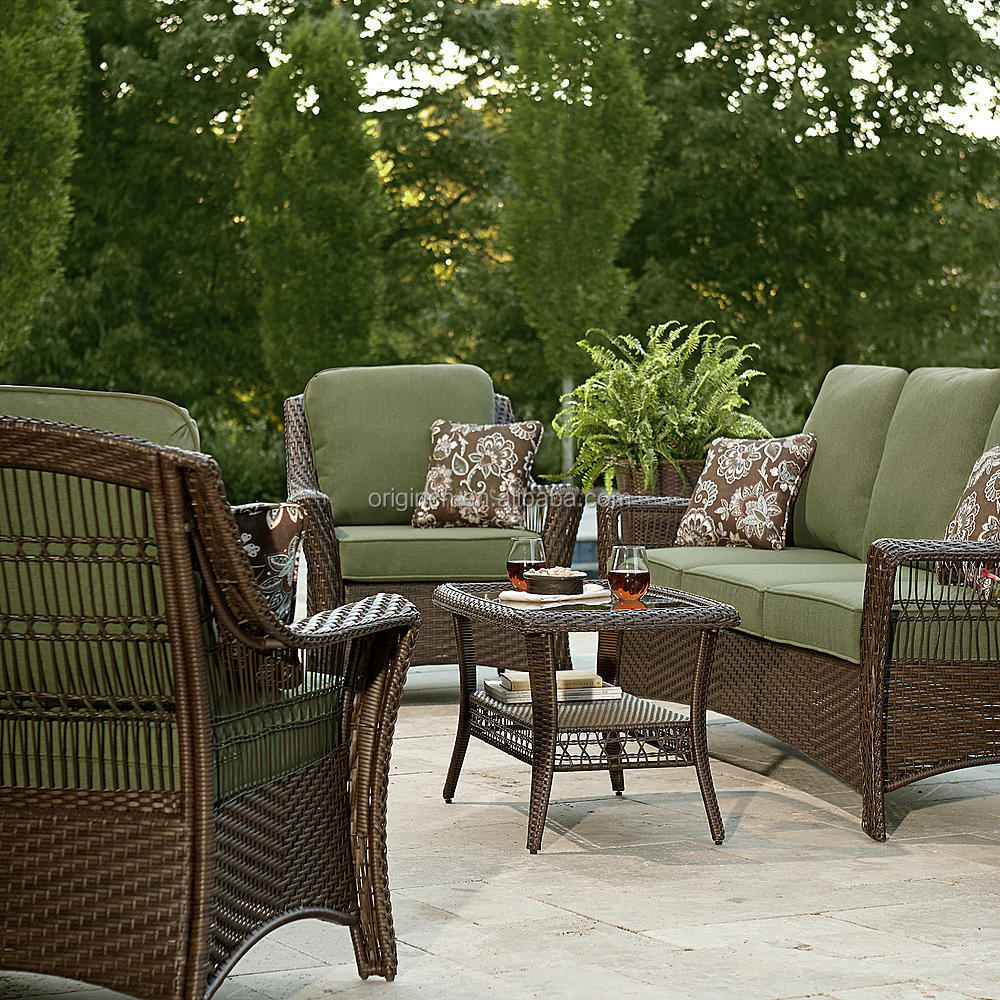 Green Color 5 Piece Patio Set Resin Wicker Outdoor Furniture China Buy Outd