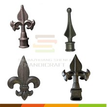 decorative forged accessories cast iron spearhead for fence gate baluster