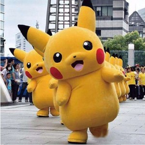 lovely advertising pikachu cartoon costume