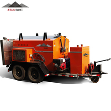 Road repairing trailer asphalt hot box