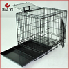 New Commercial Aluminum Folding Dog Crate Plastic Tray