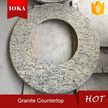 Manufacture Kitchen Ice Brown Countertop In Granite
