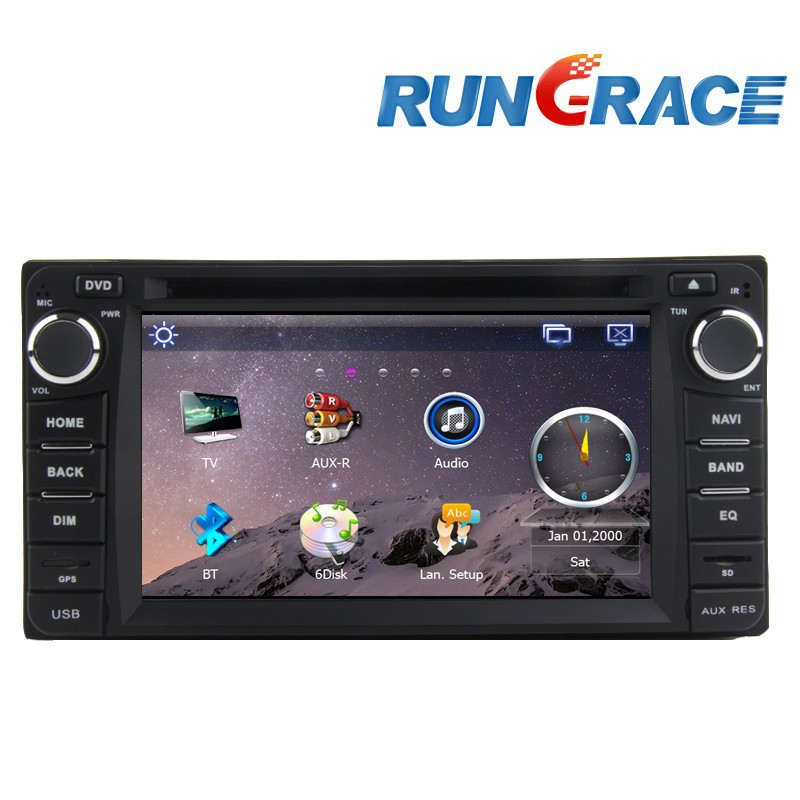 6.2 inch Fix Touch Screen 2 din Car GPS for Toyota Corolla