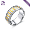 2018 wholesale fashion stainless steel ring for wedding