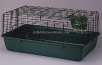 metal breeding best quality DARK GREEN folded rabbit cage