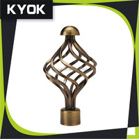 KYOK new designs wrought iron curtain rods wholesale & curtain rods factory , plastic shower curtain rod covers