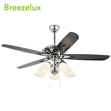 Modern design decorative best price ceiling fan and light vintage glass lampshade chandelier