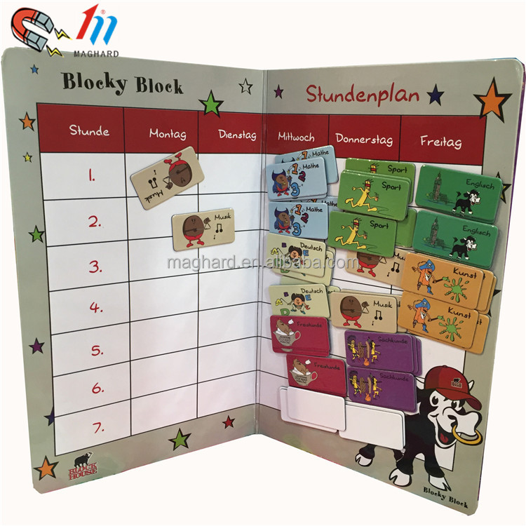 China manufacutrer Factory price hot customized I CAN DO IT magnetic chart for kids